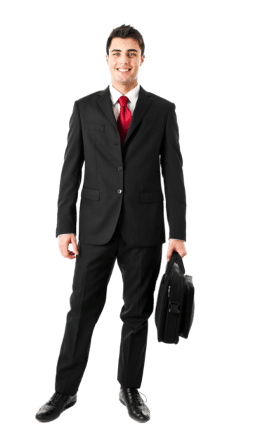Businessman With Briefcase PNG 1