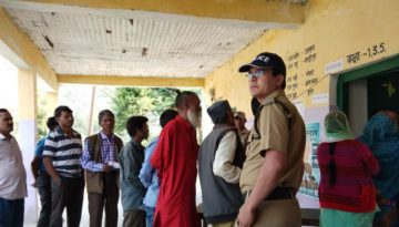 Tharali bypoll voters