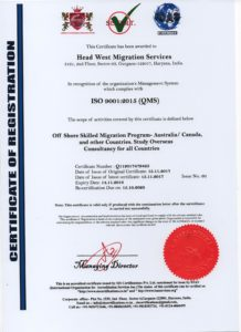 Headwest ISO Certificate