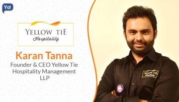 Karan Tanna of Yellow Tie Hospitality-